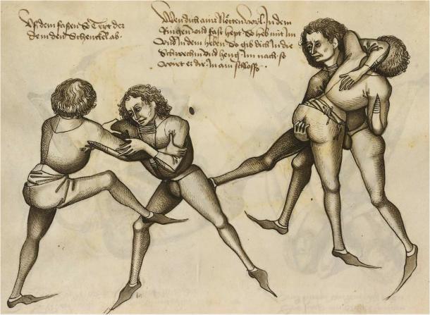 Groin Grab Wrestling